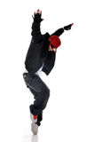 Hip-hop style dancer Stock Images