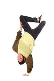 Hip-hop style dancer on hand freeze Royalty Free Stock Image