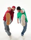 Hip-hop style dancers Stock Image