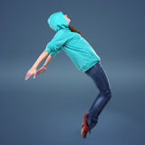 Hip-hop style female dancer Royalty Free Stock Photography
