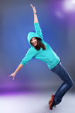 Hip-hop style female dancer Royalty Free Stock Image