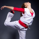 Hip-hop style female dancer Royalty Free Stock Images