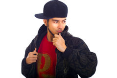 Teen in hip hop attire Royalty Free Stock Photos
