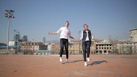 Hip-Hop-Tänzer stock video footage