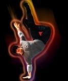 Hip Hop-Tänzer auf einer Bewegung Lizenzfreie Stockbilder