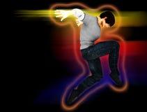 Hip Hop-Tänzer auf einer Bewegung Stockfotos