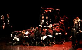 Hip-Hop-Tänzer-Leistung stockfotos