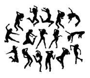 Hip Hop tancerza aktywności sylwetki Fotografia Stock