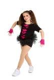 Hip Hop tancerza dziecko w Pigtails zdjęcie stock