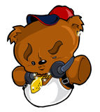 Hip Hop Urban City Teddy Bear Stock Photography