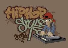 HIP HOP. Vector illustration Graphic cartoon Graffiti Hip hop vector illustration