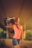 Hip hop woman Stock Images