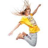 Hip-hop woman dancing Royalty Free Stock Photos