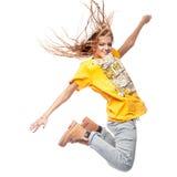 Hip-hop woman dancing Royalty Free Stock Photos