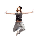 Hip-hop woman dancing Stock Image