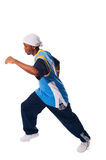 Hip-hop young man making cool move Royalty Free Stock Images