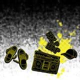 Hip-Hopmusik-Elementhintergrund Stockbild
