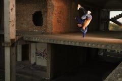 Hip-hoptanztrick Stockfoto