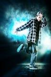 Hip man. Modern young man dancer dancing at studio Stock Photography