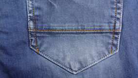Hip pocket classic jeans Stock Image