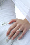 Hip Ring. A bride standing with her hand on her hip Stock Photography
