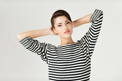 Hip and striped. Stock Photo