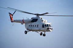 Hip Transport. Civilian operated MI-8 Hip in Afghanistan Stock Photo