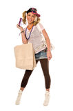Hip Urban Girl. Out shopping Stock Images