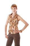 Hip woman with ginger hair Royalty Free Stock Photo