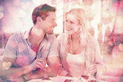 Hip young couple having desert together Royalty Free Stock Photos