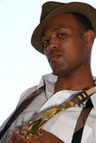 Hip Young Saxophonist stock photos