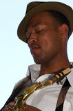 Hip Young Saxophonist Stock Photo