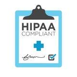 HIPAA-överensstämmelsediagram Royaltyfri Bild