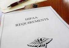 Hipaa-Anforderungen Stockfotografie