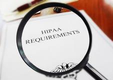 Hipaa-Anforderungen Lizenzfreie Stockfotos