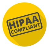 HIPAA badge - Health Insurance Portability and Accountability Act icon Royalty Free Stock Image