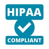 HIPAA badge - Health Insurance Portability and Accountability Act Stock Images
