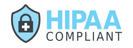 HIPAA Compliance Graphic. HIPAA Compliance Icon Graphic with Shield and lock vector illustration