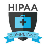 HIPAA Compliance Graphic. With medical bag and ribbon royalty free illustration