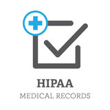 HIPAA Compliance Icon Graphic Stock Photo