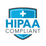 HIPAA Compliance Icon Graphic Royalty Free Stock Images