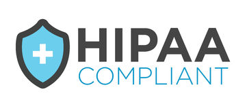 HIPAA Compliance Icon Graphic Royalty Free Stock Photography