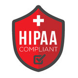 HIPAA Compliance Icon Graphic Royalty Free Stock Photo