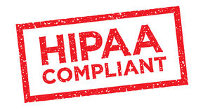 HIPAA Compliance Icon Graphic. Stamp stock illustration
