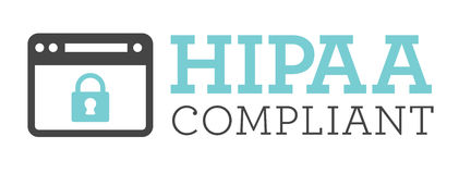 HIPAA Compliance Icon Graphics. HIPAA Compliance Icon Graphic with computer and padlock royalty free illustration