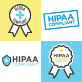 HIPAA Compliance Icon Graphics Stock Photography