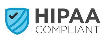 HIPAA Compliant Graphic Stock Image