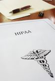 HIPAA document Royalty Free Stock Photo