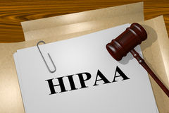 HIPAA - legal concept Royalty Free Stock Image