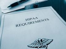 HIPAA Requirements documents Stock Photos
